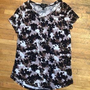 Simply Vera Vera Wang short sleeve pattern shirt S